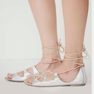 FREE PEOPLE MARRAKESH GLADIATOR LACE UP SANDALS